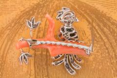 Ella Gafter Ella Gafter Love Bird Diamond Brooch Pin - 1051630