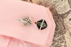 Ella Gafter Ella Gafter Onyx and Diamond Cufflinks Green Sapphire - 1030089