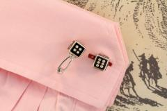 Ella Gafter Ella Gafter Onyx and Diamond Dice Cufflinks - 1030078