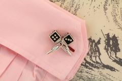 Ella Gafter Ella Gafter Onyx and Diamond Dice Cufflinks - 1030079
