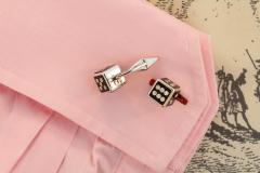 Ella Gafter Ella Gafter Onyx and Diamond Dice Cufflinks - 1030080