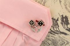 Ella Gafter Ella Gafter Onyx and Diamond Dice Cufflinks - 1030081