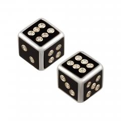 Ella Gafter Ella Gafter Onyx and Diamond Dice Cufflinks - 1030189