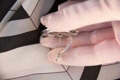 Ella Gafter Ella Gafter Pave Diamond Earrings White Gold Flower Leaf Clip On - 1185284
