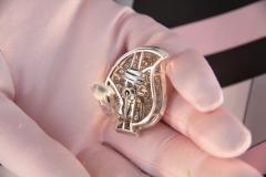 Ella Gafter Ella Gafter Pave Diamond Earrings White Gold Flower Leaf Clip On - 1185287