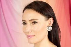 Ella Gafter Ella Gafter Pave Diamond Flower Earrings - 1189336