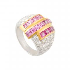Ella Gafter Ella Gafter Pink Sapphire and Diamond Cocktail Ring - 1097452