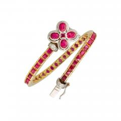 Ella Gafter Ella Gafter Ruby Diamond Color Line Bracelet - 1118042