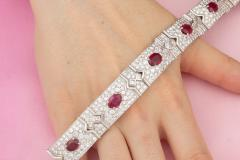 Ella Gafter Ella Gafter Ruby and Diamond Bracelet - 1117676