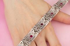 Ella Gafter Ella Gafter Ruby and Diamond Bracelet - 1117677