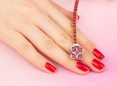 Ella Gafter Ella Gafter Ruby and Diamond Bracelet - 1120253