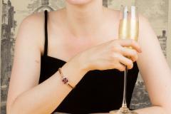 Ella Gafter Ella Gafter Ruby and Diamond Bracelet - 1120258
