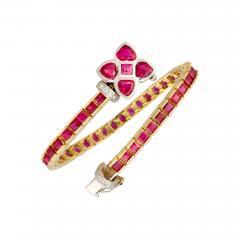Ella Gafter Ella Gafter Ruby and Diamond Bracelet - 1120682