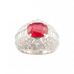 Ella Gafter Ella Gafter Ruby and Diamond Cocktail Ring - 1100892