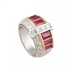 Ella Gafter Ella Gafter Ruby and Diamond Cocktail Ring - 1100895