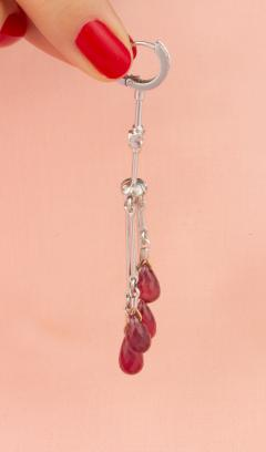 Ella Gafter Ella Gafter Ruby and Diamond Drop Earrings - 1015610