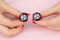 Ella Gafter Ella Gafter Ruby and Sapphire Cufflinks Diamond Onyx White Gold - 1030166