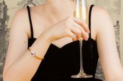 Ella Gafter Ella Gafter Sapphire Diamond Line Color Bracelet - 1117767