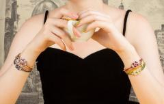 Ella Gafter Ella Gafter Sapphire Diamond Line Color Bracelet - 1120107
