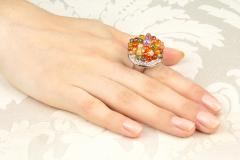 Ella Gafter Ella Gafter Sapphire Diamond Tutti Frutti Ring - 1195420