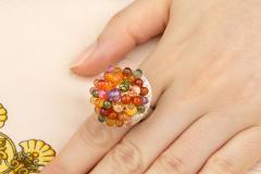 Ella Gafter Ella Gafter Sapphire Diamond Tutti Frutti Ring - 1195421
