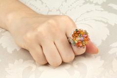 Ella Gafter Ella Gafter Sapphire Diamond Tutti Frutti Ring - 1195422