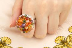 Ella Gafter Ella Gafter Sapphire Diamond Tutti Frutti Ring - 1195423