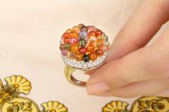 Ella Gafter Ella Gafter Sapphire Diamond Tutti Frutti Ring - 1195424