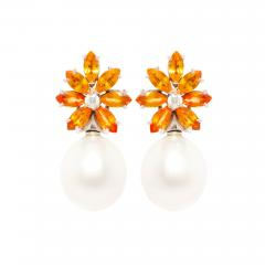 Ella Gafter Ella Gafter Sapphire South Sea Pearl and Diamond Earrings - 1189604