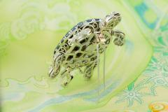 Ella Gafter Ella Gafter Sapphire and Diamond Turtle Brooch Pin - 1047980