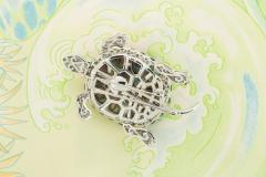 Ella Gafter Ella Gafter Sapphire and Diamond Turtle Brooch Pin - 1047981