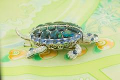 Ella Gafter Ella Gafter Sapphire and Diamond Turtle Brooch Pin - 1047985