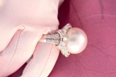 Ella Gafter Ella Gafter South Sea Pearl Diamond Cocktail Ring - 1111877
