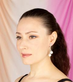 Ella Gafter Ella Gafter South Sea Pearl Diamond Drop Earrings - 1187543