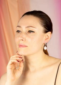 Ella Gafter Ella Gafter South Sea Pearl and Diamond Drop Earrings - 1176072