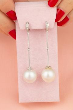 Ella Gafter Ella Gafter South Sea Pearl and Diamond Drop Earrings - 1194440
