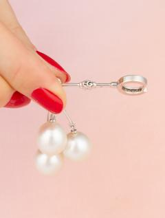 Ella Gafter Ella Gafter South Sea Pearl and Diamond Drop Earrings - 1194495