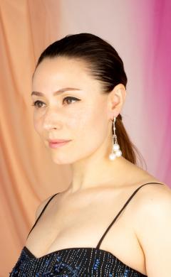 Ella Gafter Ella Gafter South Sea Pearl and Diamond Drop Earrings - 1194500