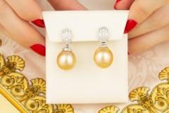 Ella Gafter Ella Gafter South Sea Pearl and Diamond Earrings - 1185293