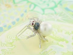 Ella Gafter Ella Gafter South Sea Pearl and Diamond Spider Brooch Pin - 1051539