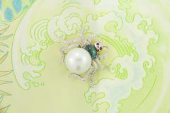 Ella Gafter Ella Gafter South Sea Pearl and Diamond Spider Brooch Pin - 1051542