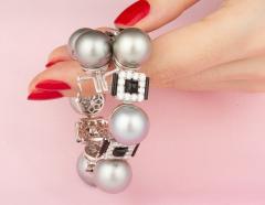 Ella Gafter Ella Gafter Tahitian Pearl and Diamond Bracelet Onyx - 1117641