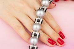 Ella Gafter Ella Gafter Tahitian Pearl and Diamond Bracelet Onyx - 1117642