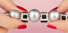Ella Gafter Ella Gafter Tahitian Pearl and Diamond Bracelet Onyx - 1117646
