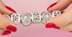 Ella Gafter Ella Gafter Tahitian Pearl and Diamond Bracelet Onyx - 1117648