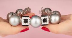 Ella Gafter Ella Gafter Tahitian Pearl and Diamond Bracelet Onyx - 1117650