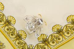 Ella Gafter Ella Gafter White South Sea Pearl Diamond Bee Brooch Pin with Blue Sapphire - 1042503