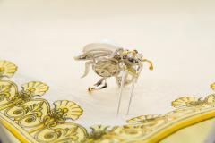 Ella Gafter Ella Gafter White South Sea Pearl Diamond Bee Brooch Pin with Blue Sapphire - 1042505