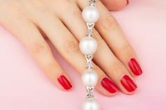 Ella Gafter Ella Gafter White South Sea Pearl and Diamond Bracelet - 1009732