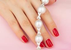 Ella Gafter Ella Gafter White South Sea Pearl and Diamond Bracelet - 1009733